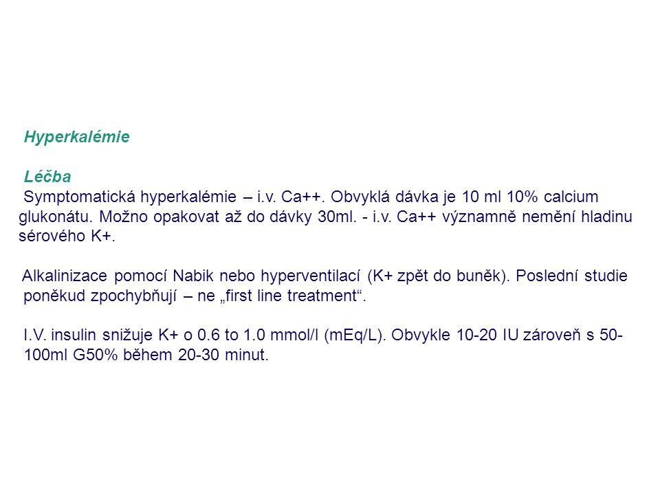 Hyperkalémie Léčba.