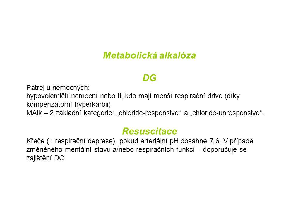 Metabolická alkalóza DG Resuscitace