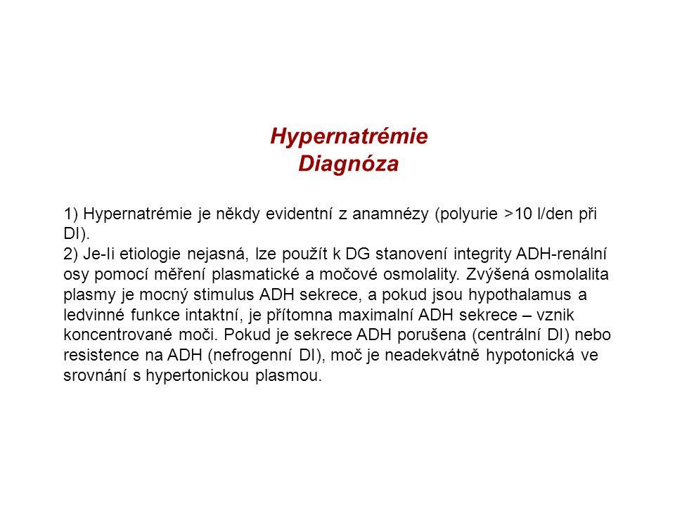 Hypernatrémie Diagnóza