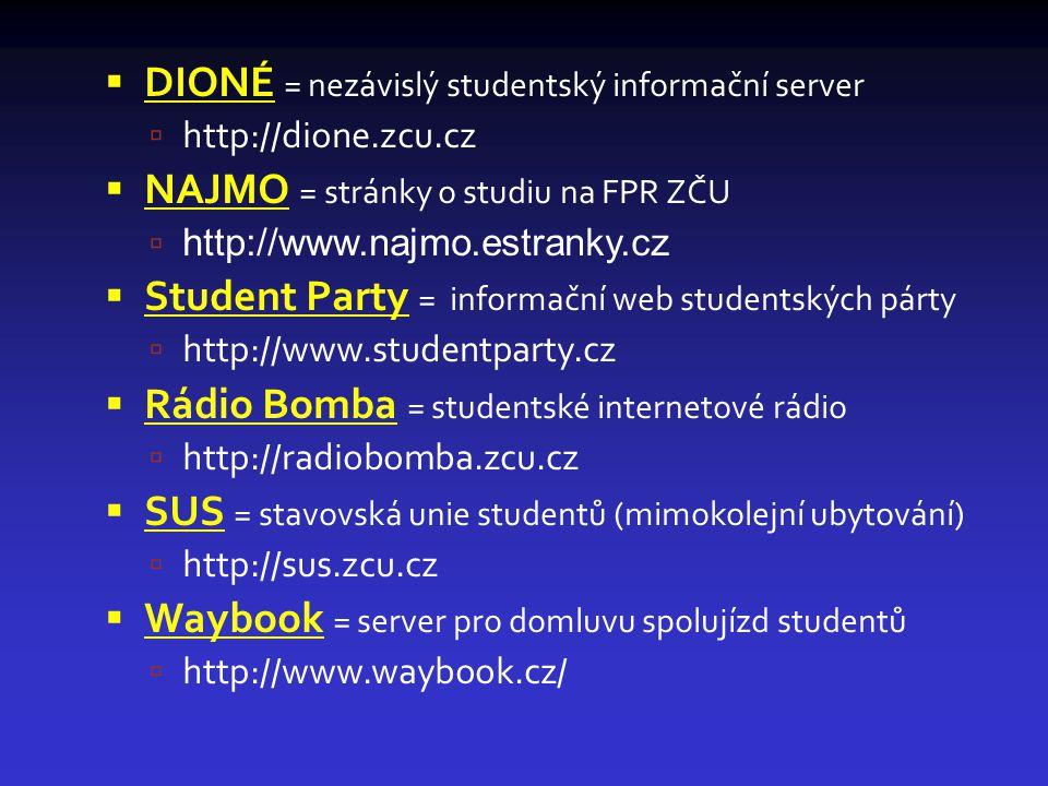 DIONÉ = nezávislý studentský informační server