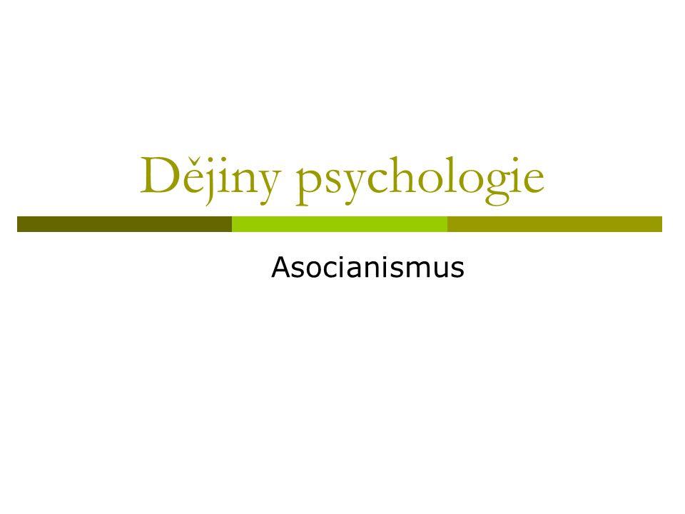Dějiny psychologie Asocianismus