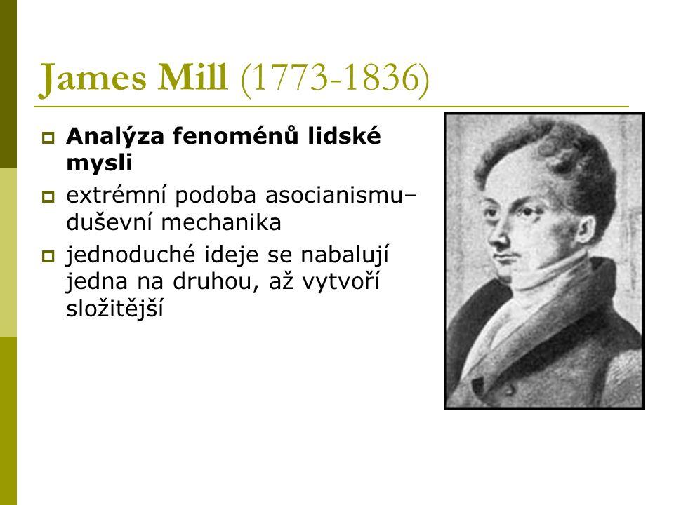 James Mill (1773-1836) Analýza fenoménů lidské mysli