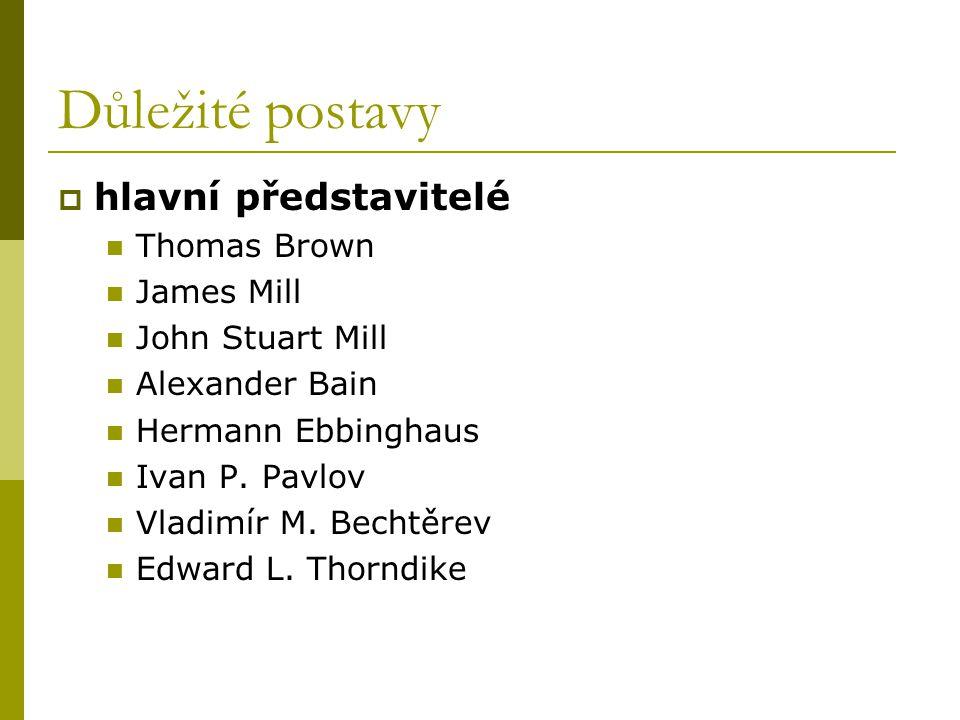 Důležité postavy hlavní představitelé Thomas Brown James Mill
