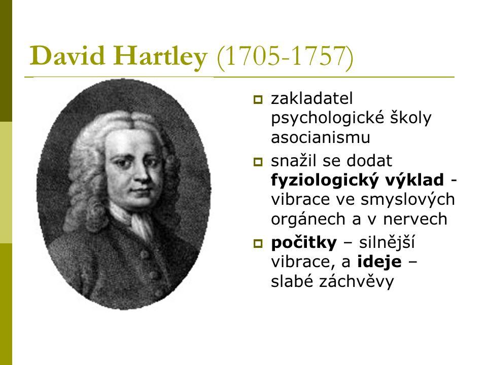 David Hartley (1705-1757) zakladatel psychologické školy asocianismu