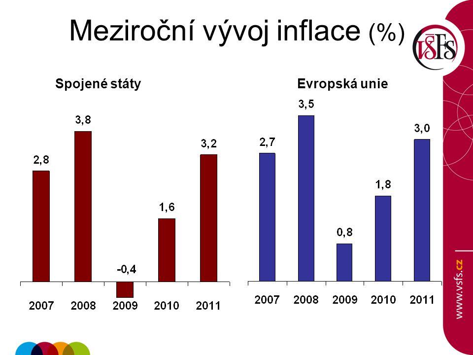 Meziroční vývoj inflace (%)