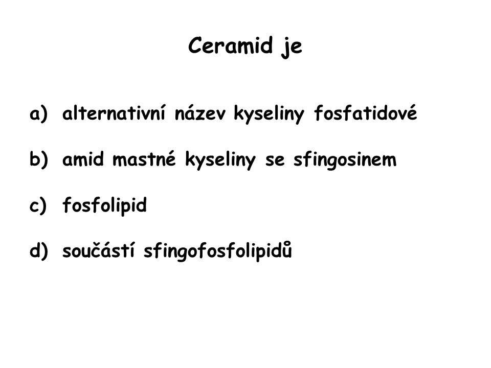 Ceramid je alternativní název kyseliny fosfatidové