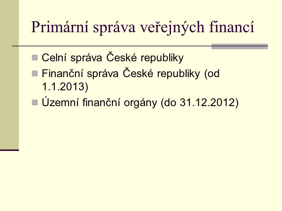Primární správa veřejných financí