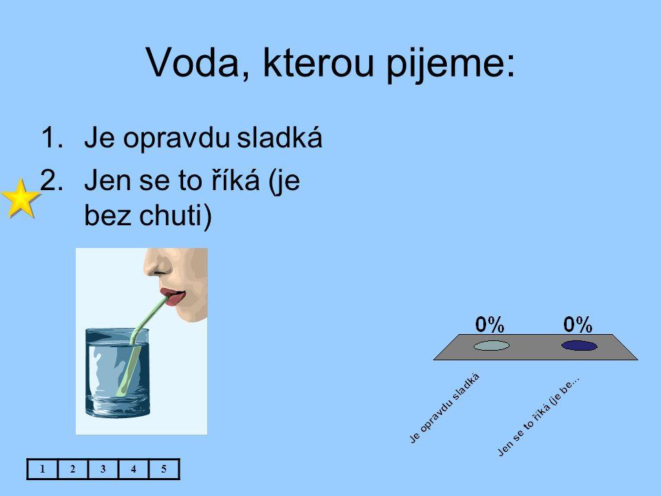 Voda, kterou pijeme: Je opravdu sladká Jen se to říká (je bez chuti) 1