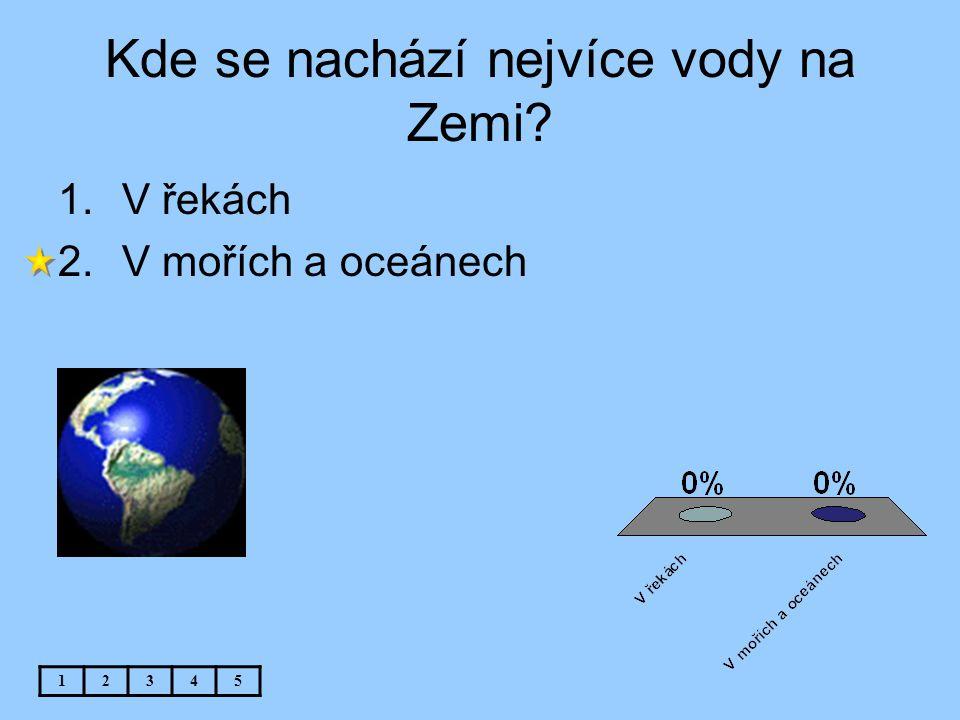 Kde se nachází nejvíce vody na Zemi
