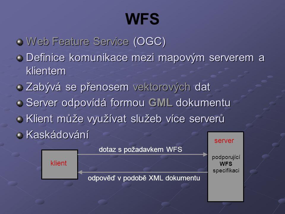 podporující WFS specifikaci