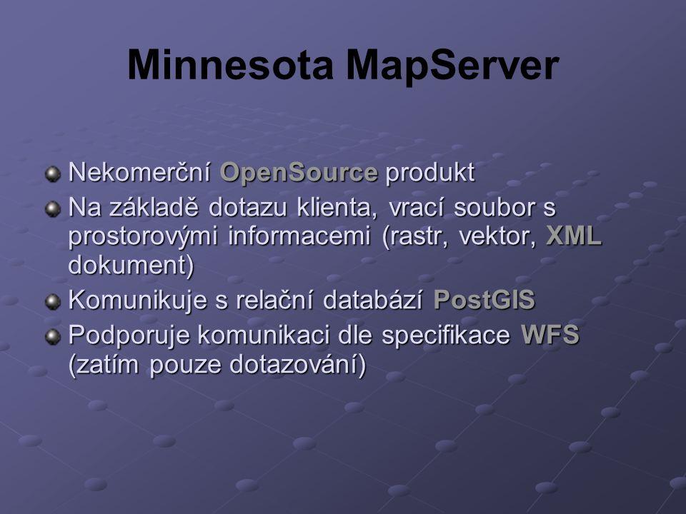 Minnesota MapServer Nekomerční OpenSource produkt