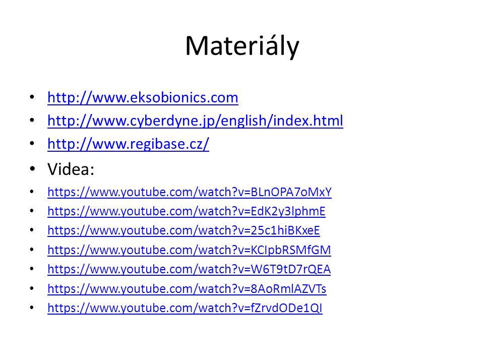Materiály Videa: http://www.eksobionics.com