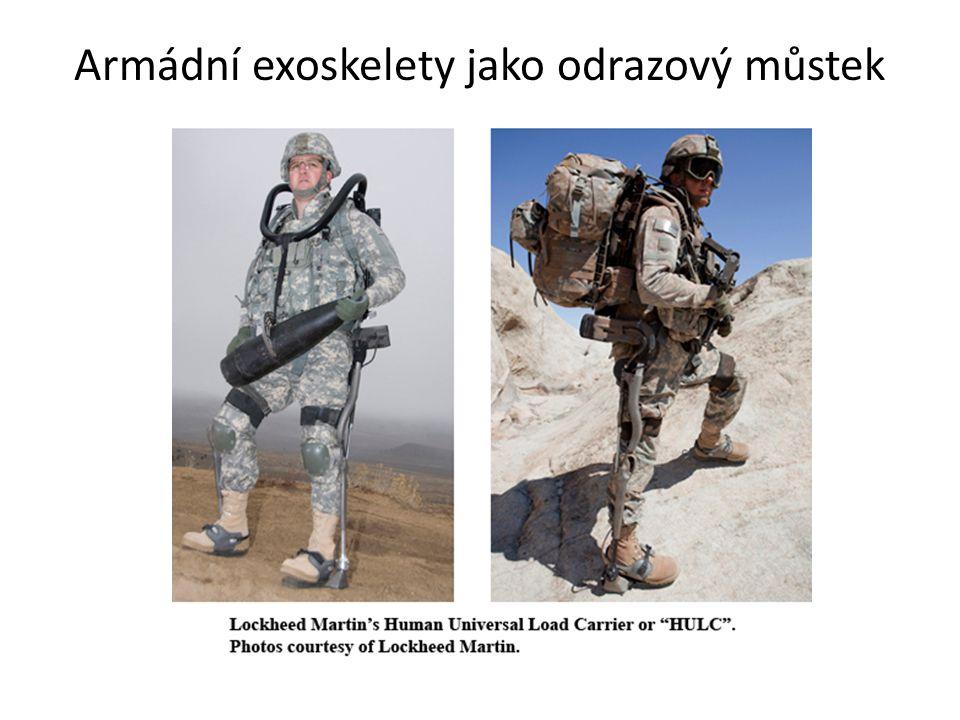 Armádní exoskelety jako odrazový můstek