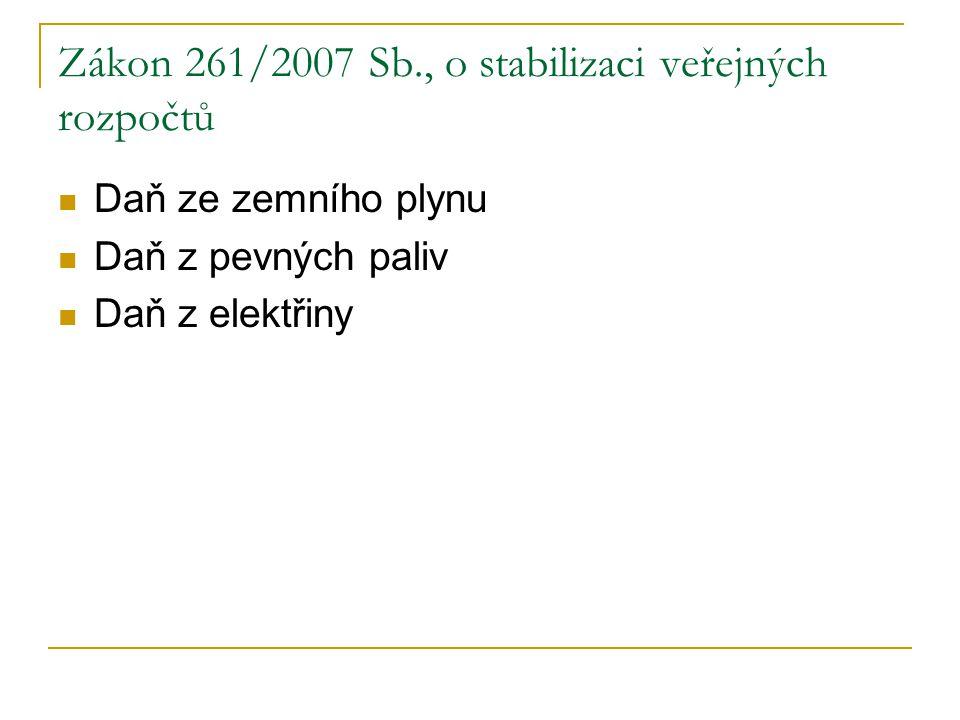 Zákon 261/2007 Sb., o stabilizaci veřejných rozpočtů