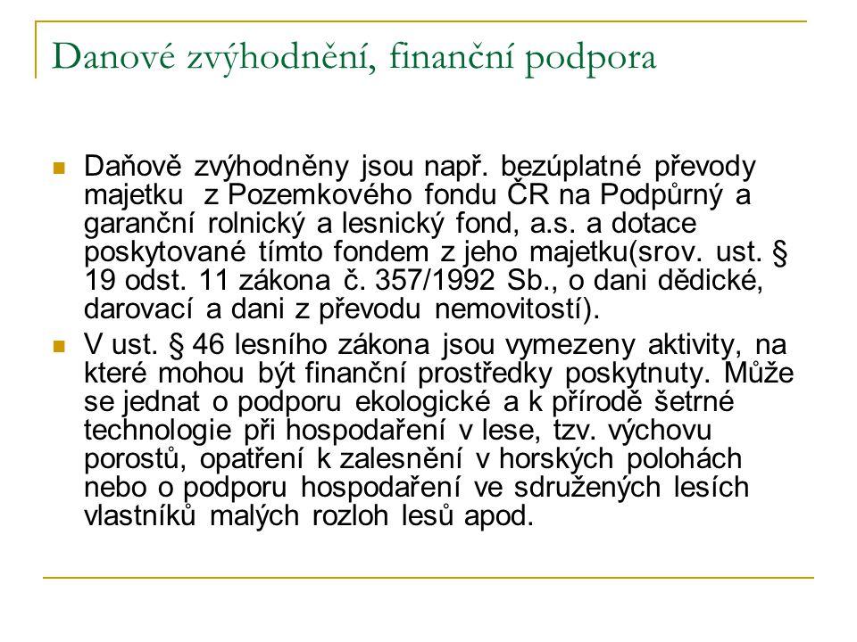 Danové zvýhodnění, finanční podpora