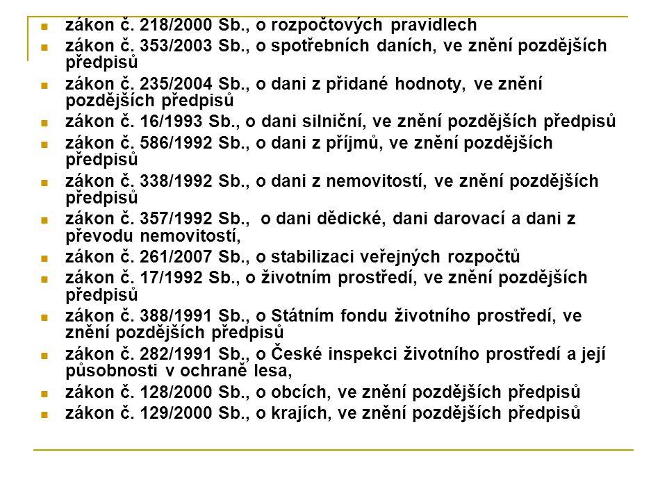 zákon č. 218/2000 Sb., o rozpočtových pravidlech