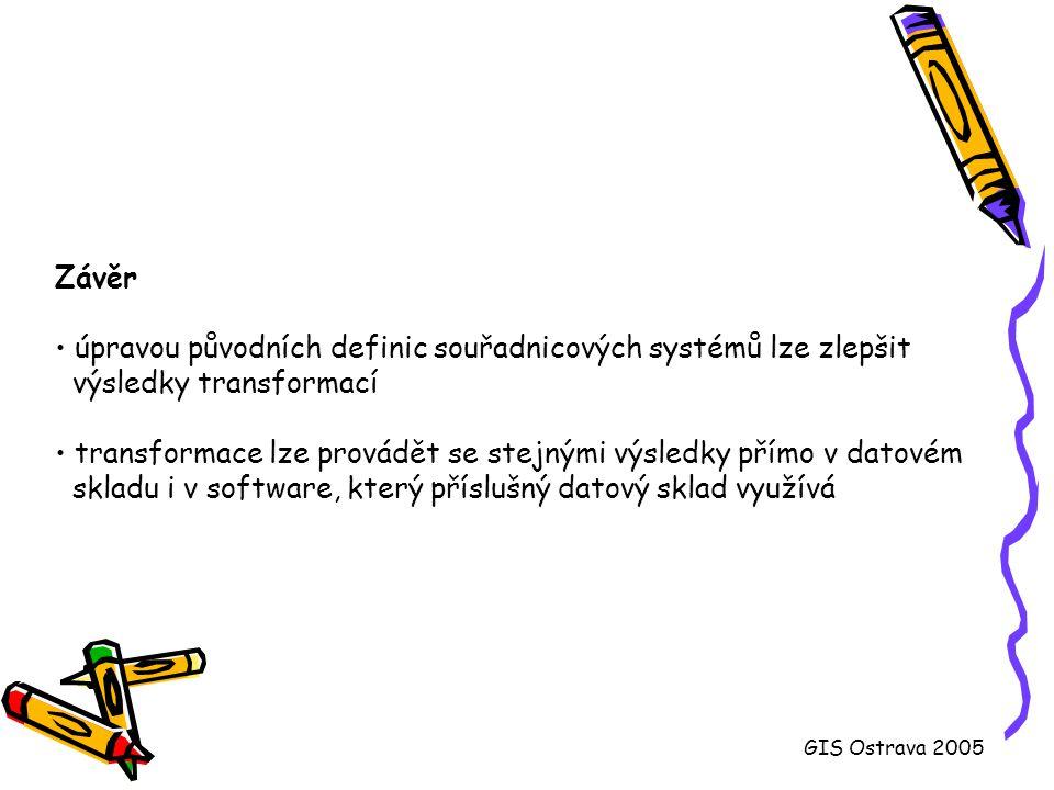 úpravou původních definic souřadnicových systémů lze zlepšit