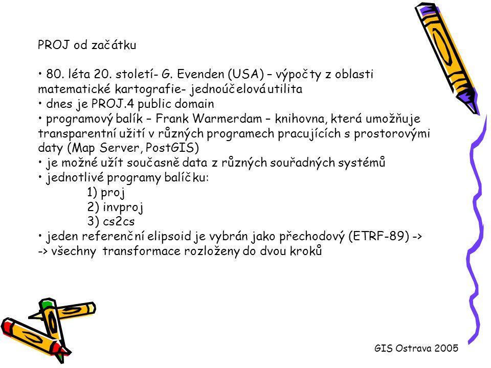 80. léta 20. století- G. Evenden (USA) – výpočty z oblasti