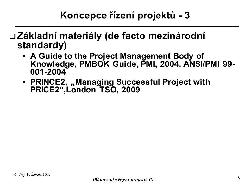 Koncepce řízení projektů - 3