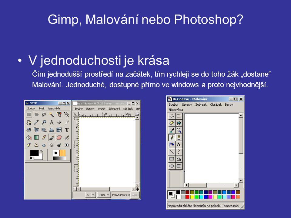 Gimp, Malování nebo Photoshop