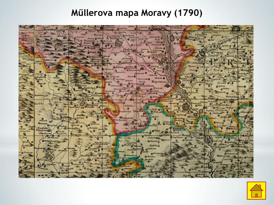 Műllerova mapa Moravy (1790)
