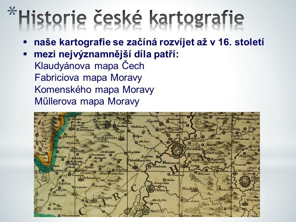 Historie české kartografie