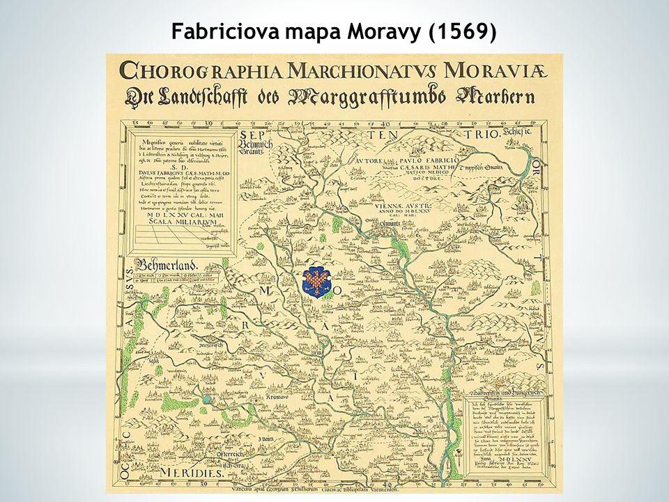 Fabriciova mapa Moravy (1569)