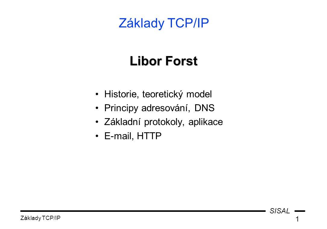 Základy TCP/IP Libor Forst Historie, teoretický model