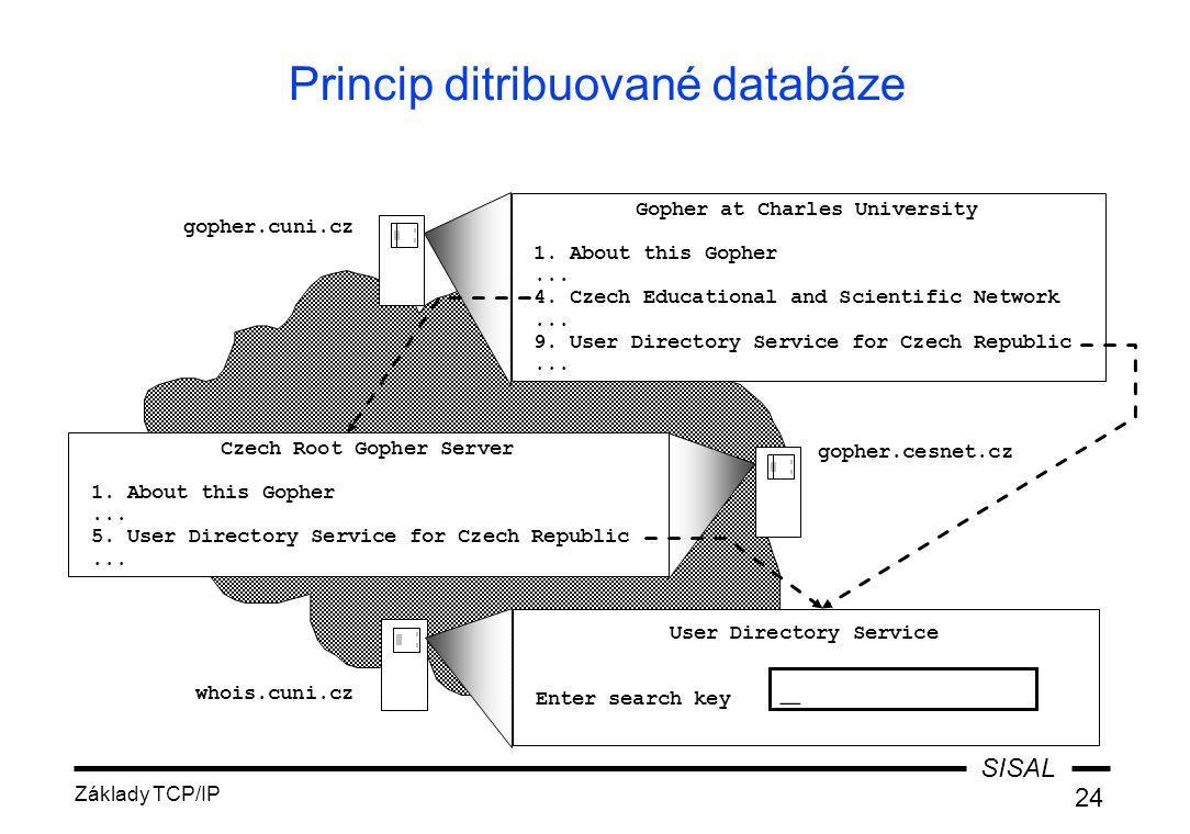 Princip ditribuované databáze