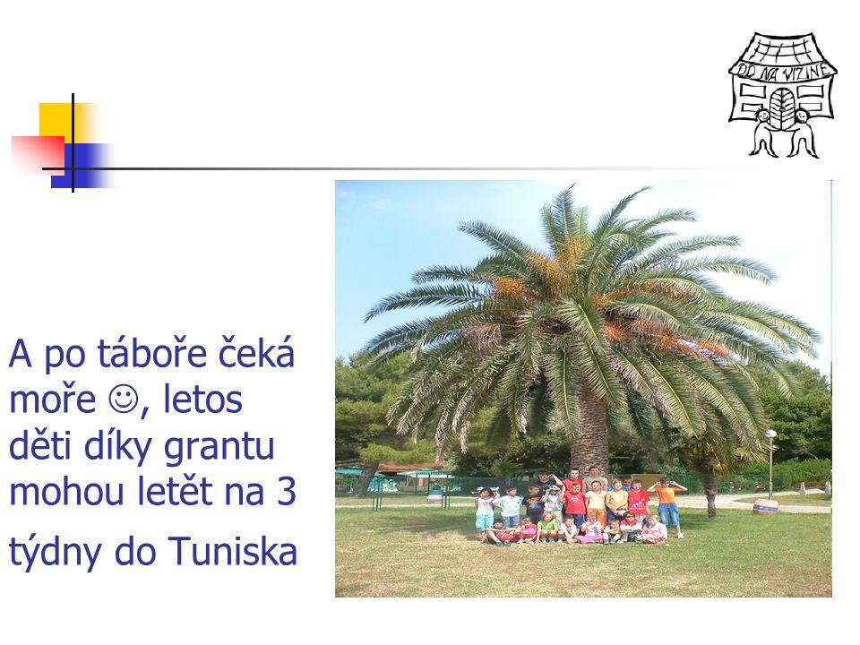 A po táboře čeká moře , letos děti díky grantu mohou letět na 3 týdny do Tuniska