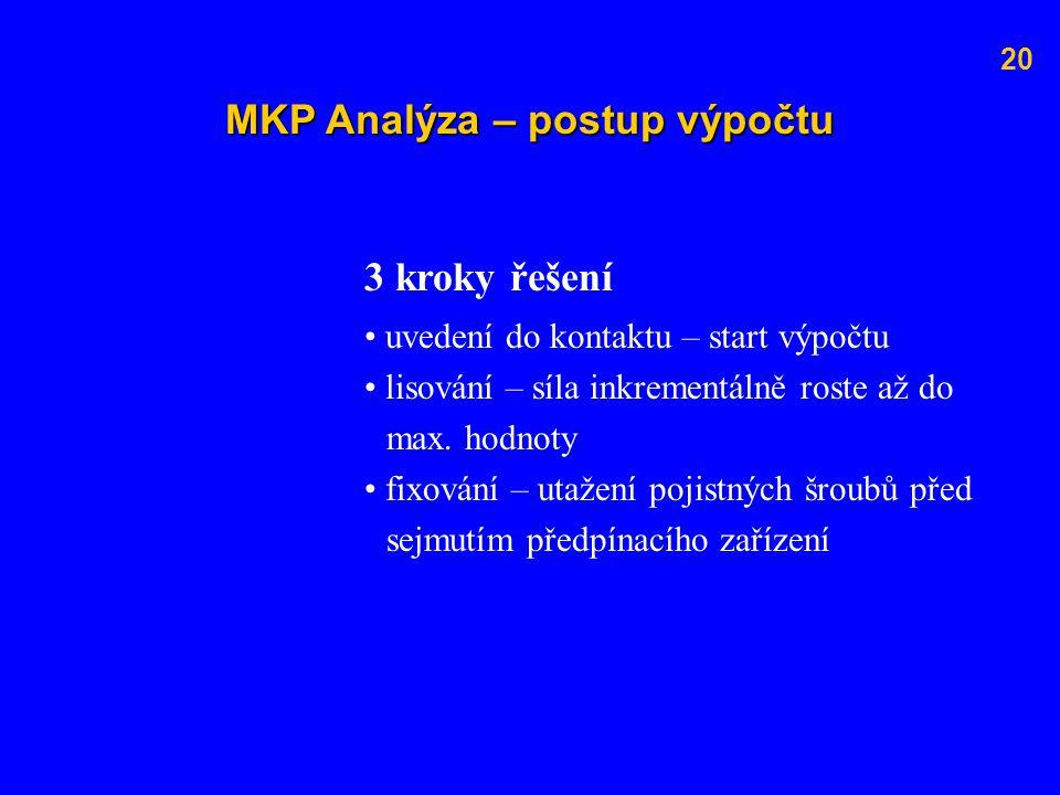 MKP Analýza – postup výpočtu