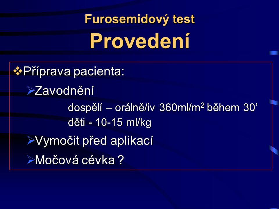 Furosemidový test Provedení