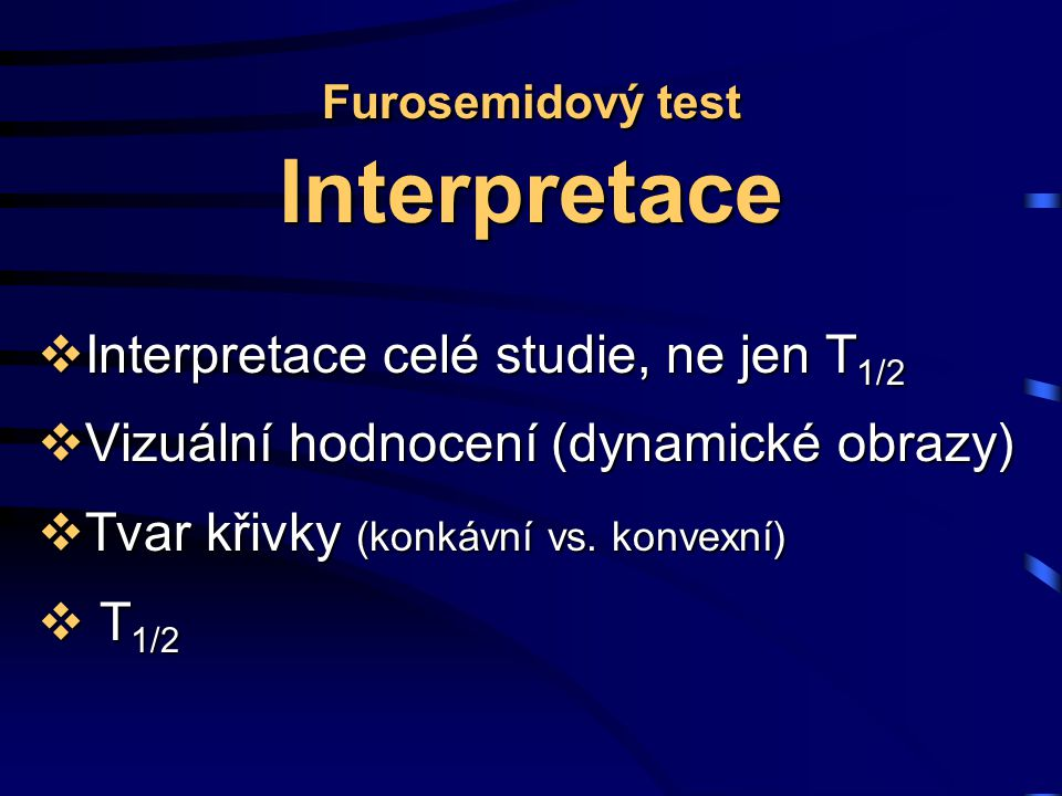 Furosemidový test Interpretace
