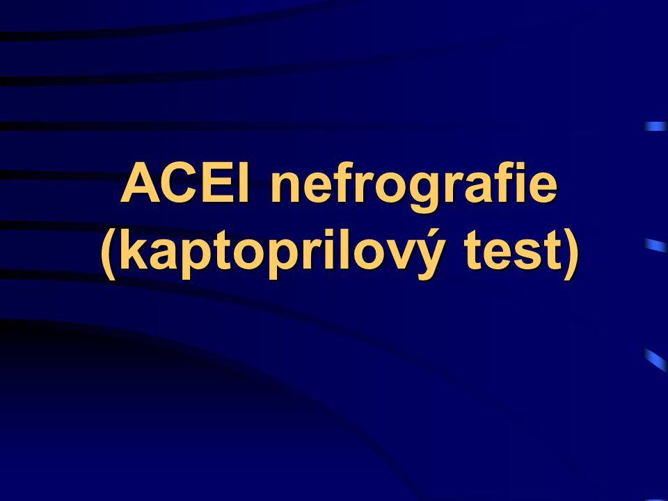 ACEI nefrografie (kaptoprilový test)
