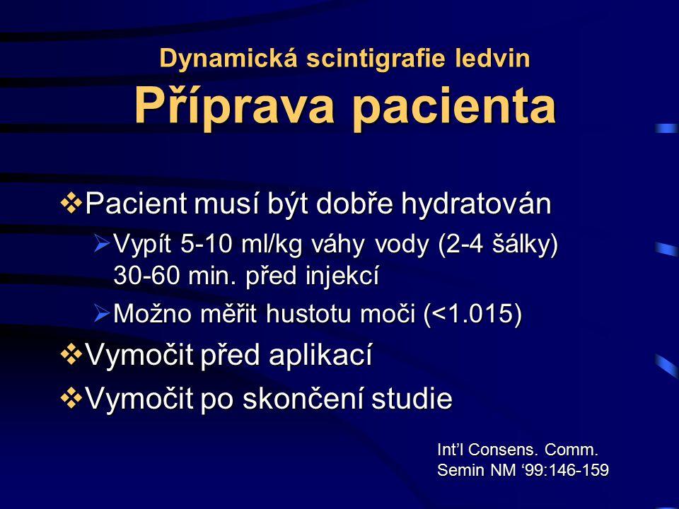 Dynamická scintigrafie ledvin Příprava pacienta