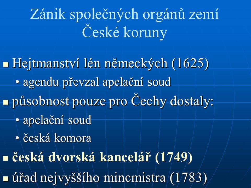 Zánik společných orgánů zemí České koruny