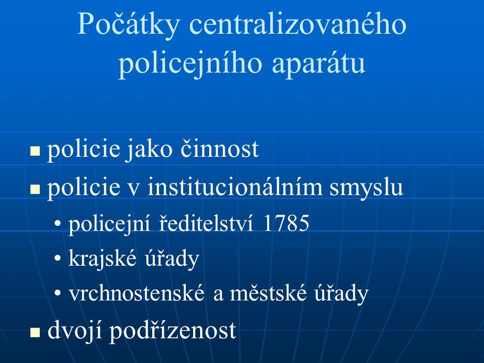 Počátky centralizovaného policejního aparátu