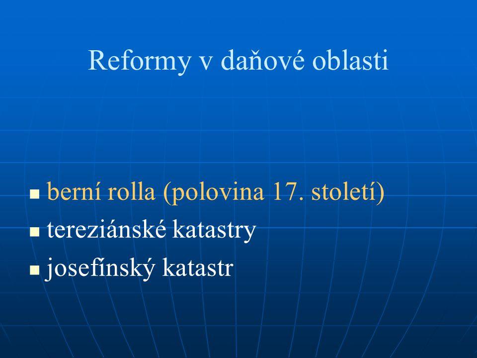 Reformy v daňové oblasti