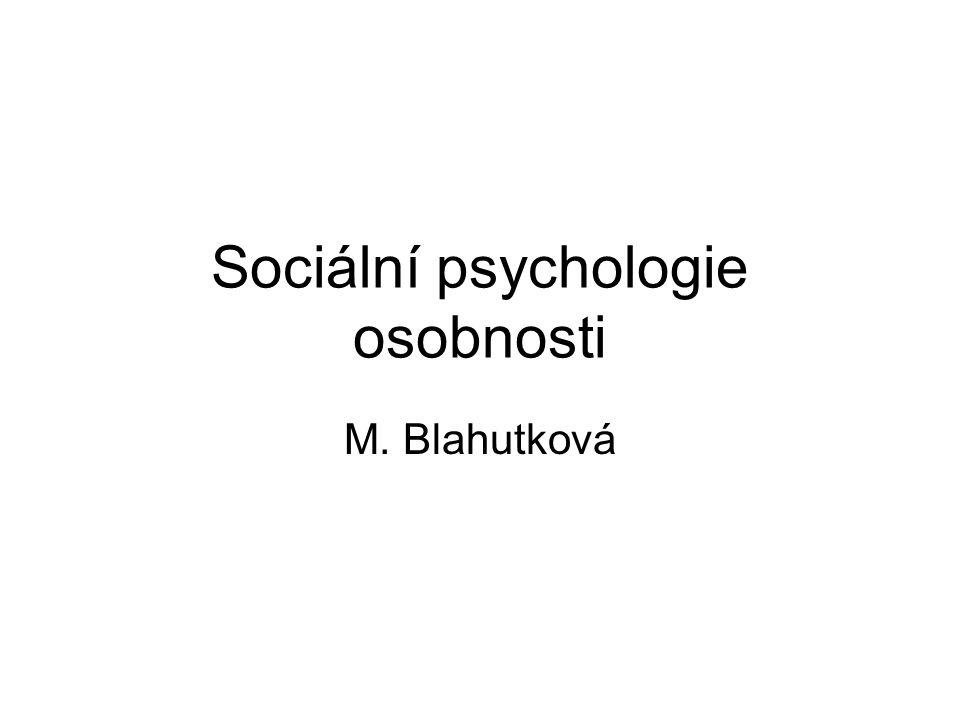Sociální psychologie osobnosti