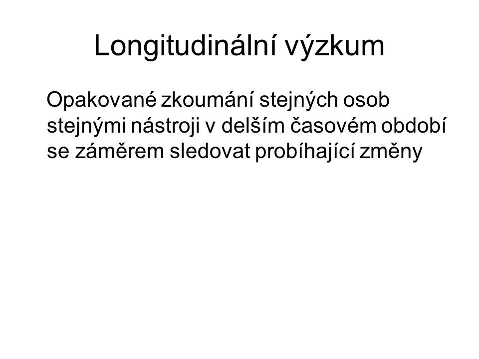 Longitudinální výzkum