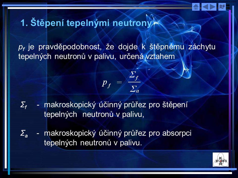 1. Štěpení tepelnými neutrony