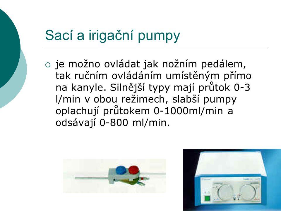 Sací a irigační pumpy