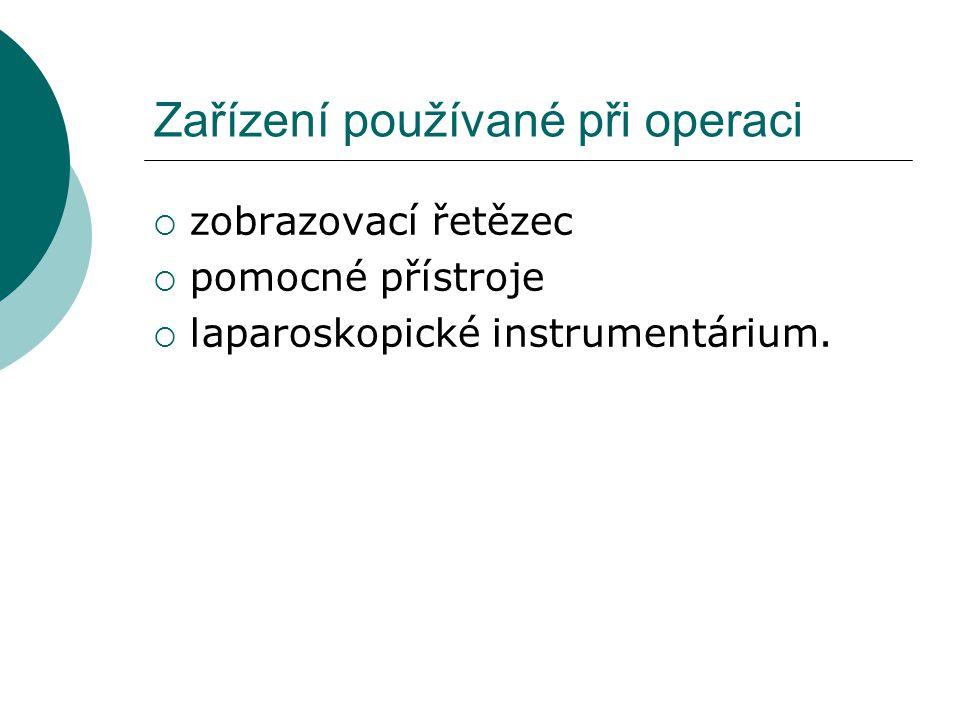 Zařízení používané při operaci