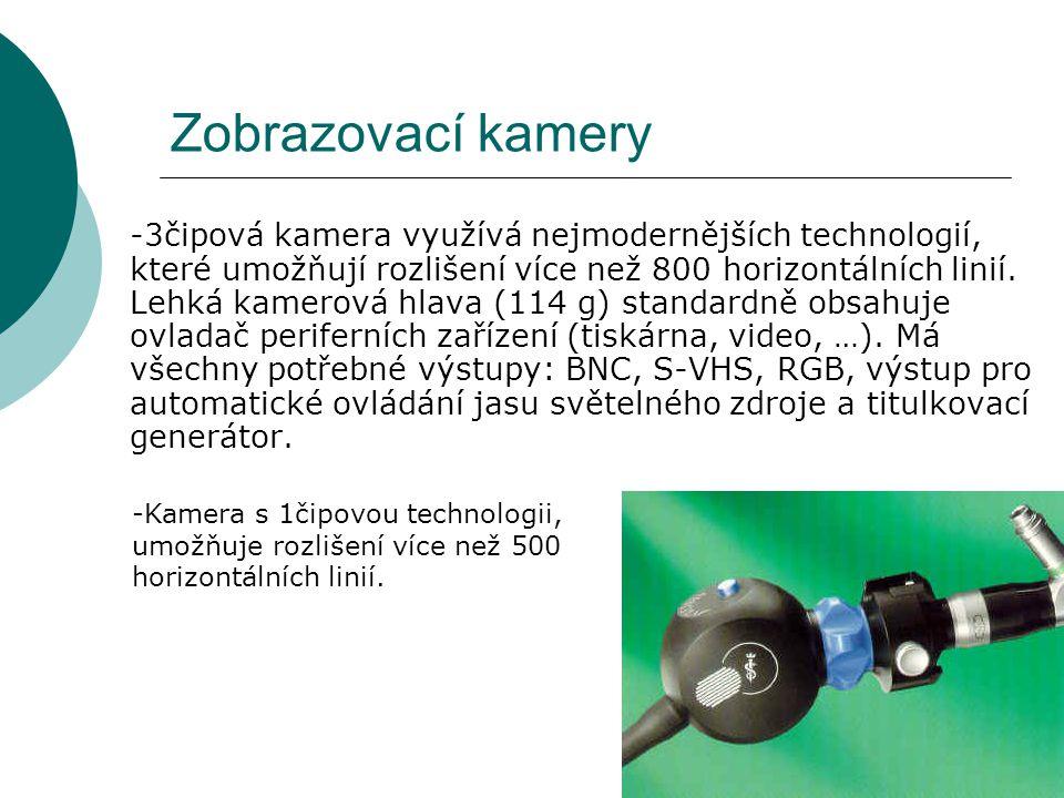 Zobrazovací kamery