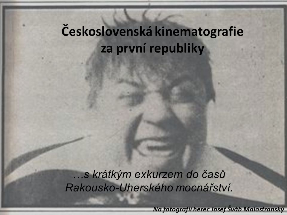 Československá kinematografie za první republiky