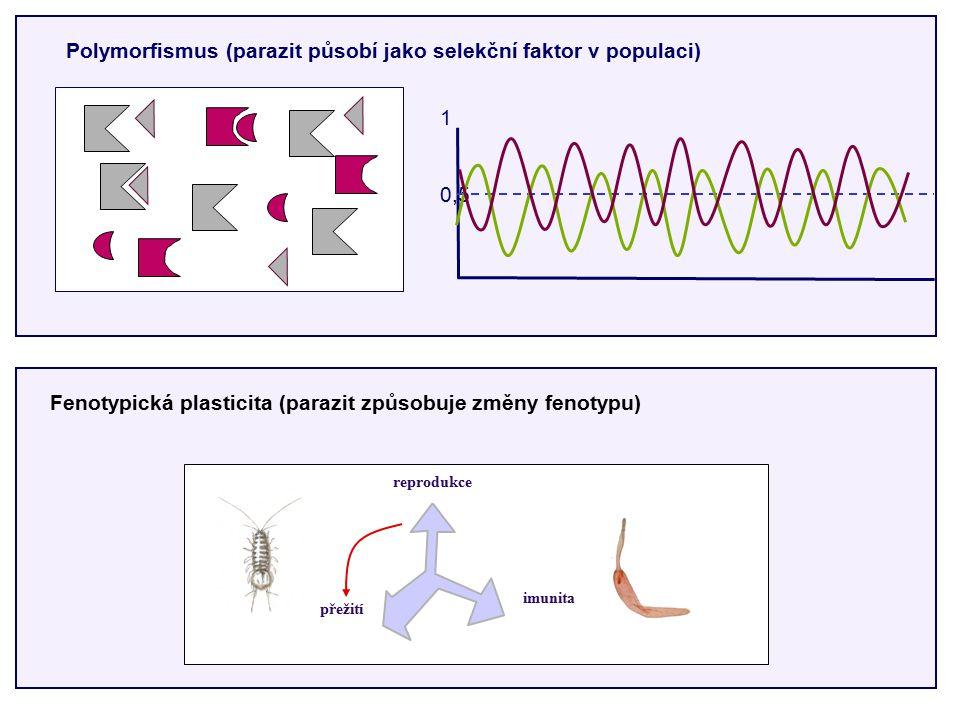Fenotypická plasticita (parazit způsobuje změny fenotypu)
