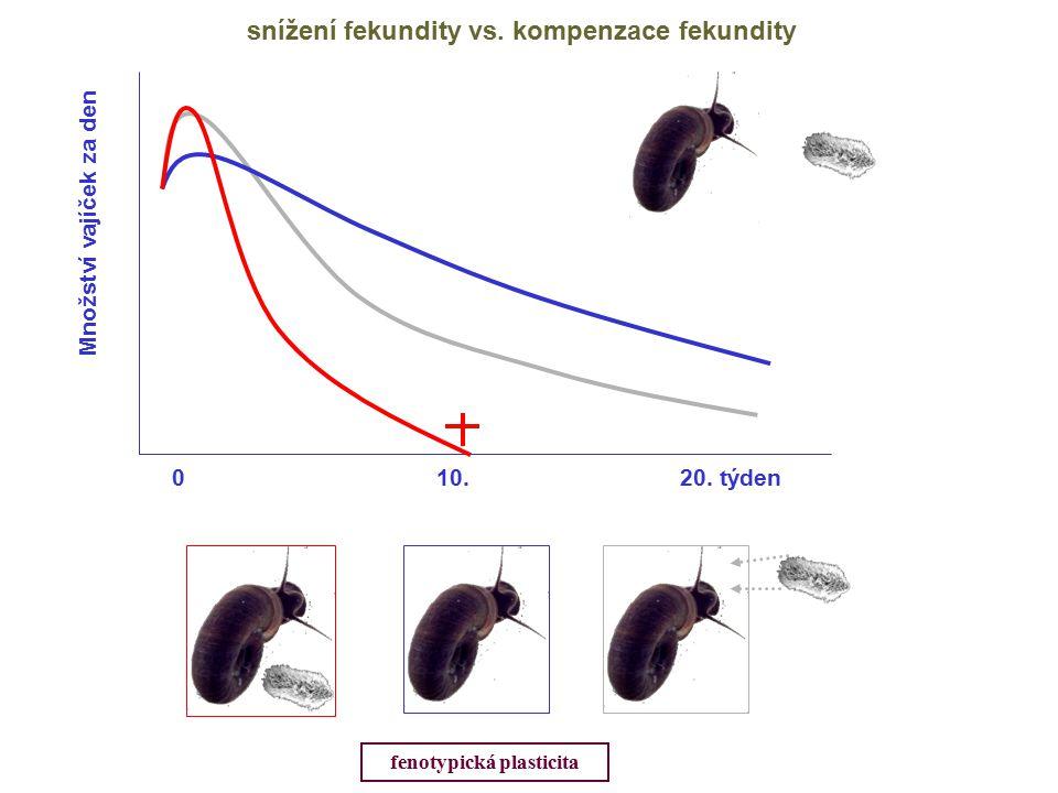 snížení fekundity vs. kompenzace fekundity