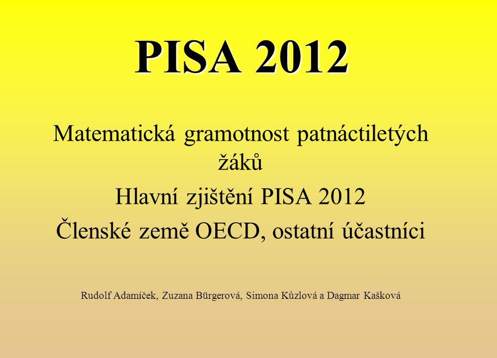 PISA 2012 Matematická gramotnost patnáctiletých žáků