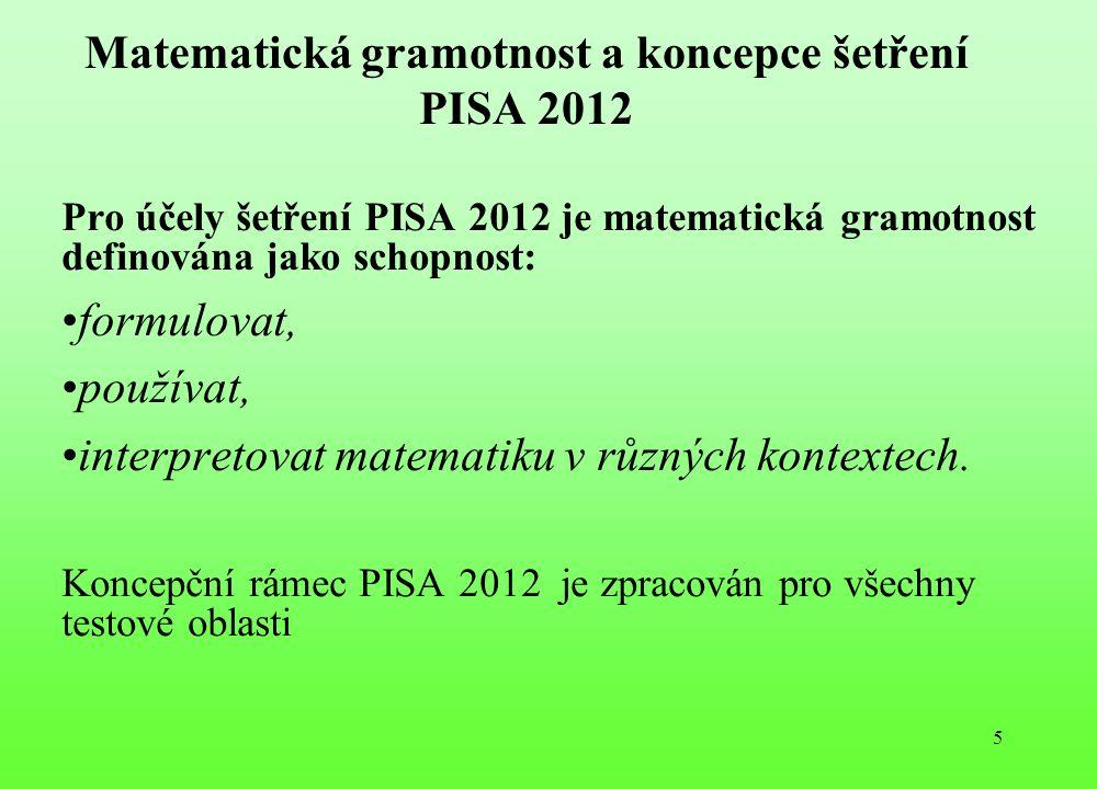 Matematická gramotnost a koncepce šetření PISA 2012