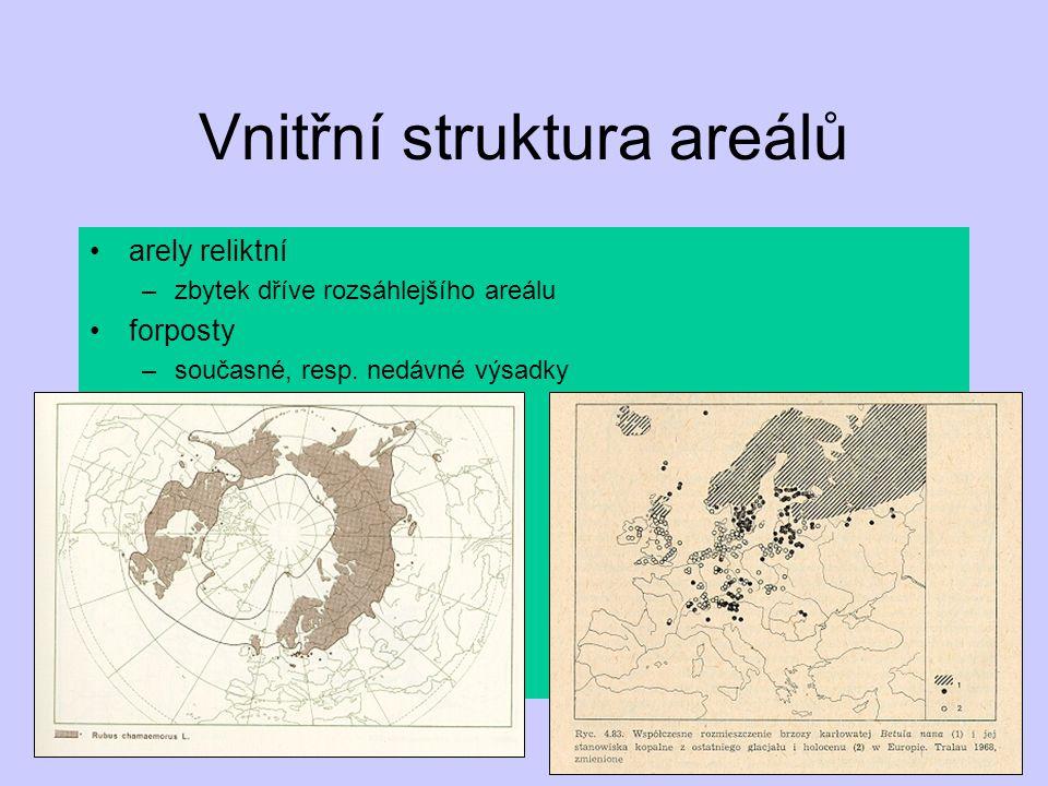 Vnitřní struktura areálů